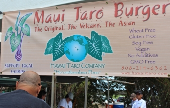 Burgers made from taro plant
