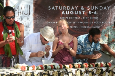 The onion eating contest