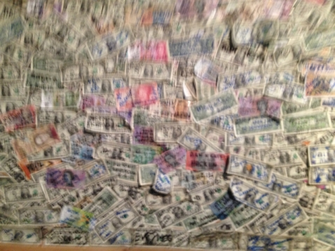 Bloody Mary's money wall