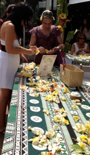 :Lei making at the fest. Minimal coverage this year since the blogger was relazing.