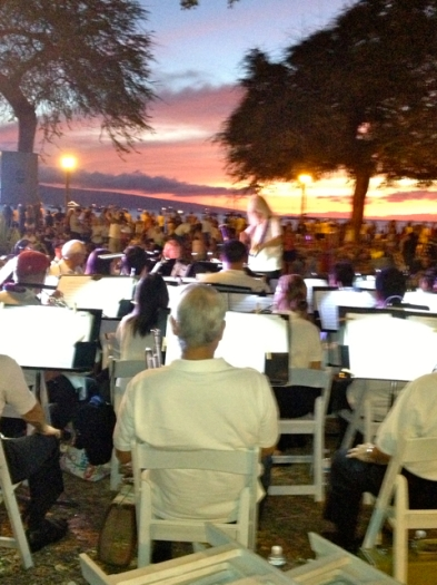 The band played, but the sunset got all the attention