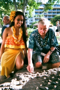 Playing ancient Hawaii game at KBH luau (i lost)