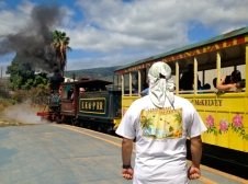 Train gets ready to leave Lahaina station with passengers for last time