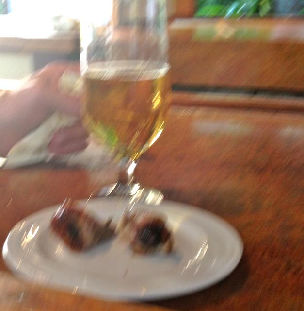 Taste treats on a plate: eyes of pig
