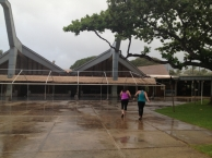 Kaanapali Beach Hotel took down its outdoor dining area