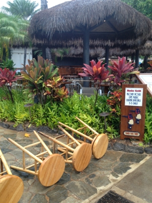 Lonely bar stools at Hula Grill