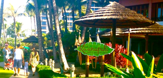Kaanapali Grille ready for opening on beach path