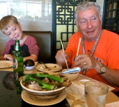 Blogger and Grandson feast