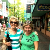 Wife and daughter enjoy Chinatowny