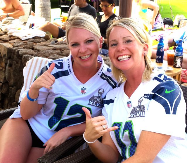 Fans from Seattle. There was more to watch there than the game.