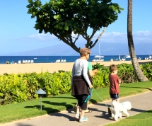 On the beach path with Kea Aloha