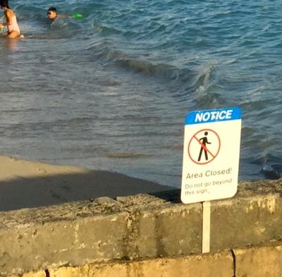 Non existant beach