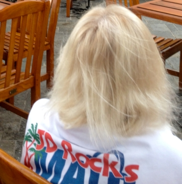 """Doreen, """"Ultimate Visitor,"""" at Kimo's on Maui there for music. She's in my new book."""